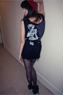 Black-gundam-dress-black-tights-black-forever-21-shoes-red-american-appare