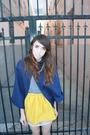 Gold-zzc-skirt-blue-american-apparel-t-shirt-blue-zzc-gray-shoes
