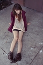 Zzc-sweater-pink-zzc-dress-black-shirt-brown-boots-gold-necklace